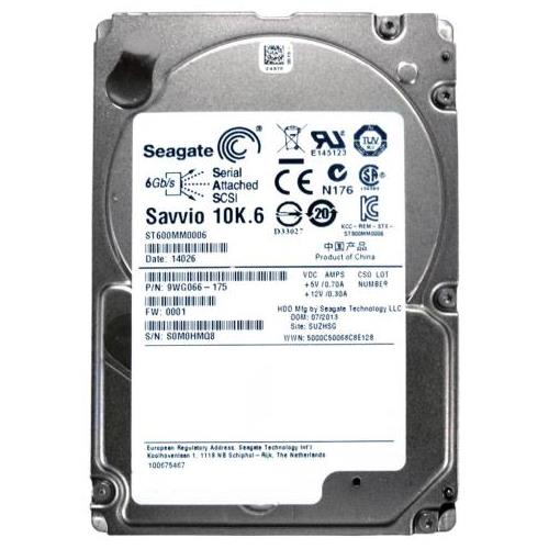 ST600MM0006 Seagate 600GB 10000RPM SAS 6.0 Gbps 2.5 64MB Cache Hard Drive