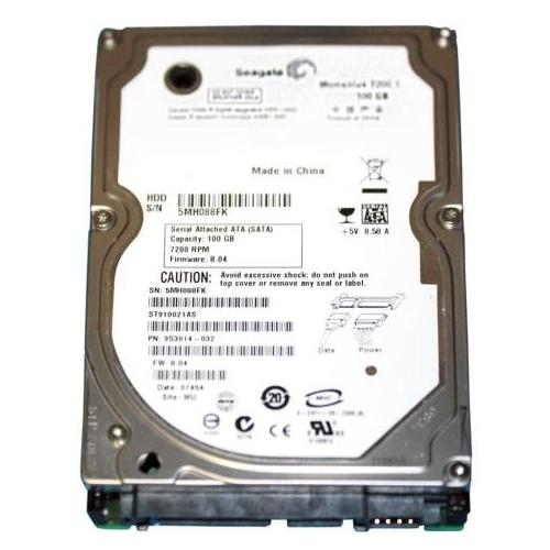 ST910021AS Seagate 100GB 7200RPM SATA 1.5 Gbps 2.5 8MB Cache Momentus Hard Drive
