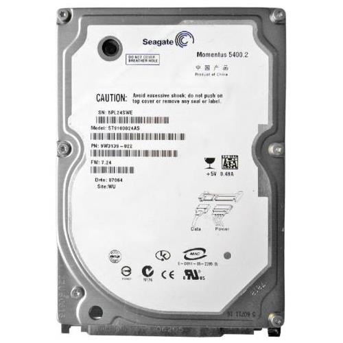 ST9100824AS Seagate 100GB 5400RPM SATA 1.5 Gbps 2.5 8MB Cache Momentus Hard Drive