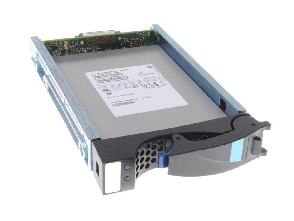 FLV5PS6F-200 EMC 200GB SAS 6Gbps Fast Cache 3.5-inch Internal Solid State Drive (SSD) for VNXe1600 12 x 3.5 Enclosure