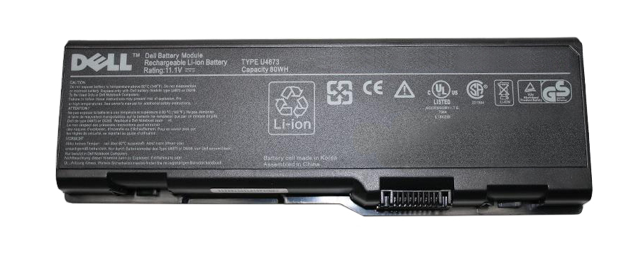 D5551 Dell 9-Cell 11.1V 6600mAh 80WHr Lithium-Ion Battery for Inspiron 6000, 9200, 9400, E1705, XPS M170, M1710 Gen2 (Refurbished)