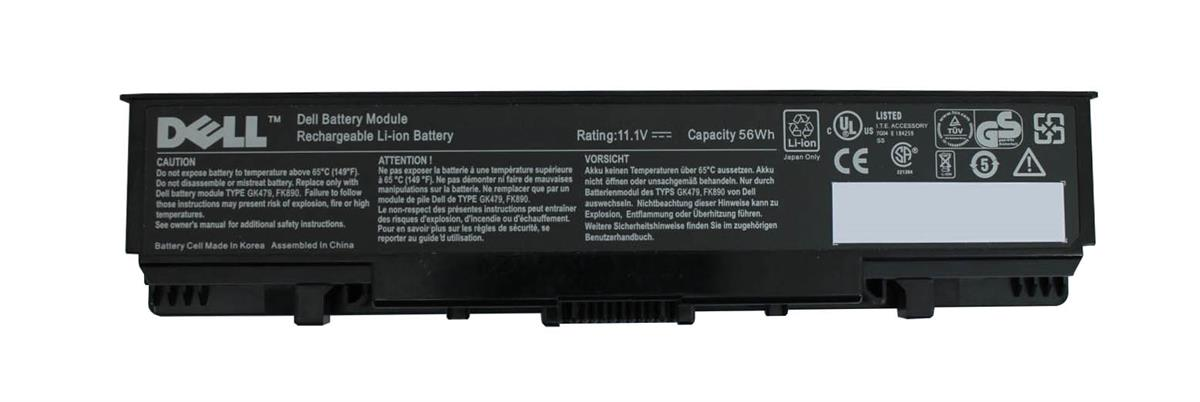 TM978 Dell 6-Cell 56WHr Lithium-Ion Battery for Inspiron 1520, 1521, 1720, 1721, Vostro 1700, 1500 (Refurbished)