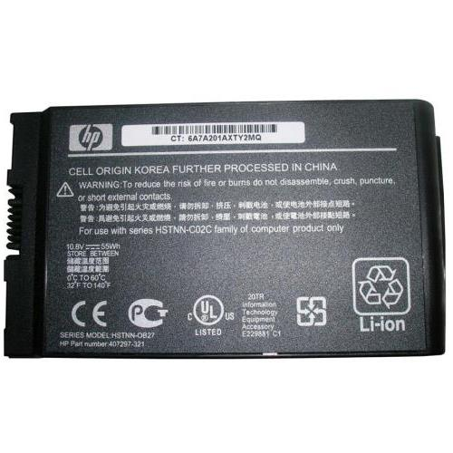 407297-321 HP 6-Cell Lithium-Ion 10.8VDC 5100mAh 58Wh Primary Notebook Battery for Business Notebooks nc4200 nc4400 tc4200 and tc4400 Series (Refurbished)