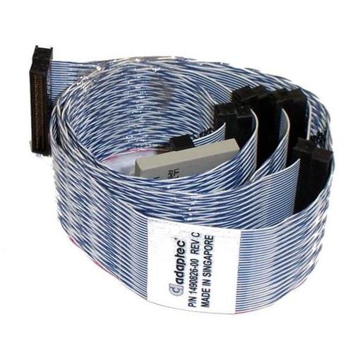 1490826-00 Adaptec U160 68 Pin SCSI LVD Cable 4-device 48-inch
