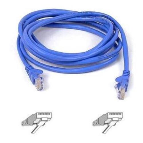 A3L791B03M-BLUS Belkin 10ft RJ45 CAT5e Snagless Molded Patch Cable (Blue)
