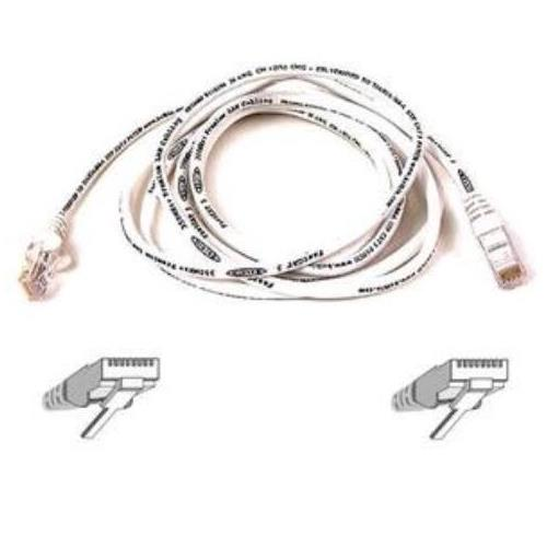 A3L791B30M-WHTS Belkin 98ft RJ45 CAT5e Snagless Molded Patch Cable (White)
