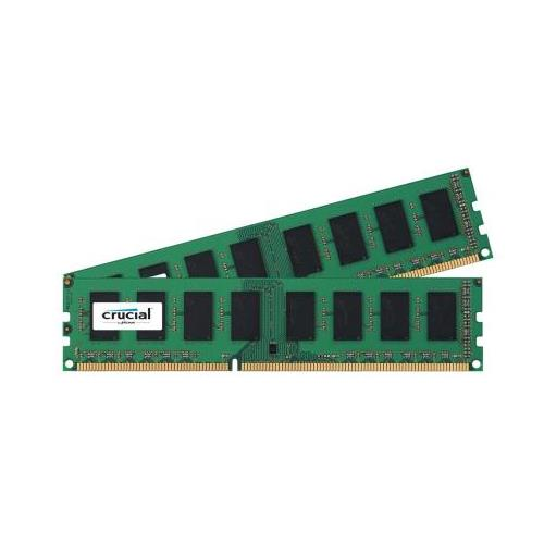 CT4056202 Crucial 8GB Kit (2 X 4GB) PC3-12800 DDR3-1600MHz non-ECC Unbuffered CL11 240-Pin DIMM Memory for Supermicro SuperServer 5016T-MRB