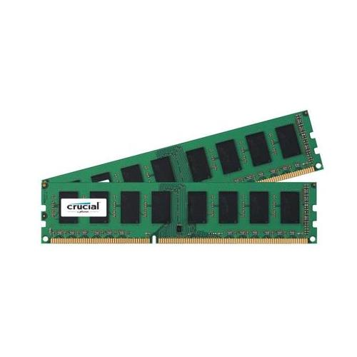 CT4057106 Crucial 8GB Kit (2 X 4GB) PC3-12800 DDR3-1600MHz non-ECC Unbuffered CL11 240-Pin DIMM Memory for Tyan B7016G24W4H System