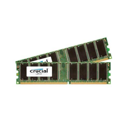 CT464118 Crucial 2GB Kit (2 X 1GB) PC3200 DDR-400MHz non-ECC Unbuffered CL3 184-Pin DIMM Memory for Sony VAIO VGC-RB43 Series