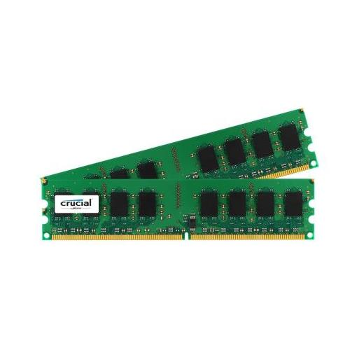 CT6276646 Crucial 1GB Kit (2 X 512MB) PC2-5300 DDR2-667MHz non-ECC Unbuffered CL5 240-Pin DIMM Memory for Supermicro SuperServer 5015A-H