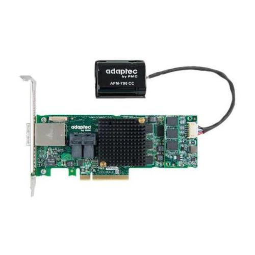 2277100R Adaptec SATA 6Gbps / SAS 12Gbps PCI Express 3.0 x8 RAID 0/1/10 Low Profile Controller Card