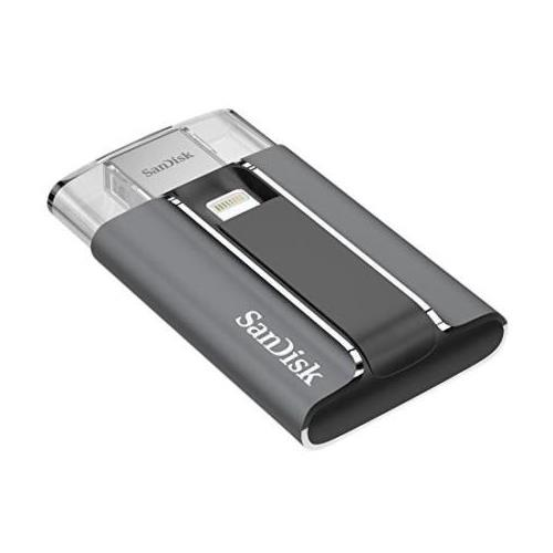 SDIX-128G-G57 SanDisk iXpand 128GB USB 2.0 Password Protected Flash Drive for iPhone and iPad