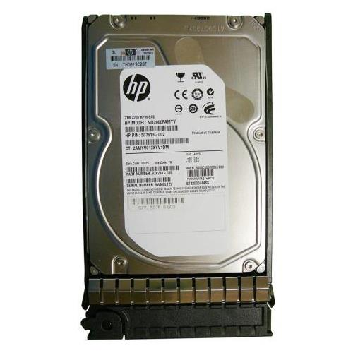 507613002G8 HP 2TB 7200RPM SAS 6Gbps Dual Port Hot Swap 3.5-inch Internal Hard Drive with Smart Carrier