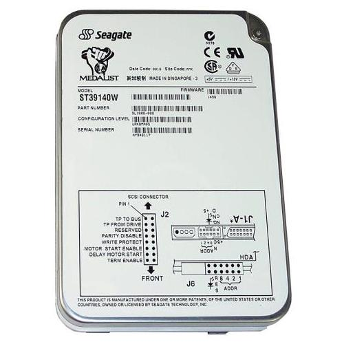 ST39140W Seagate Medalist Pro 9.1GB 7200RPM Ultra Wide SCSI 68-Pin 512KB Cache 3.5-inch Internal Hard Drive