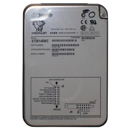 ST39140WC Seagate Medalist Pro 9140 9.1GB 7200RPM Ultra Wide SCSI 68-Pin 512KB Cache 3.5-inch Internal Hard Drive