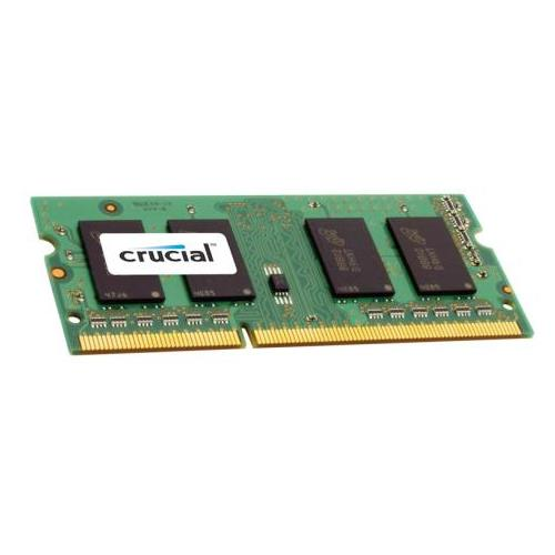 CT25664BF Crucial 2GB PC3-10600 DDR3-1333MHz non-ECC Unbuffered CL9 204-Pin SoDimm 1.35V Low Voltage Single Rank Memory Module