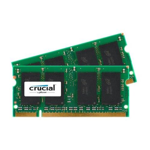 CT6106000 Crucial 4GB Kit (2 X 2GB) PC2-5300 DDR2-667MHz non-ECC Unbuffered CL5 200-Pin SoDimm Memory for Sony VAIO VGN-CR42Z