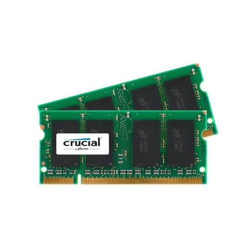 CT856567 Crucial 4GB kit (2 x 2GB) PC2-5300 DDR2-667MHz non-ECC Unbuffered CL5 200-Pin SoDimm Memory for HP Pavilion dv5-1002us Notebook