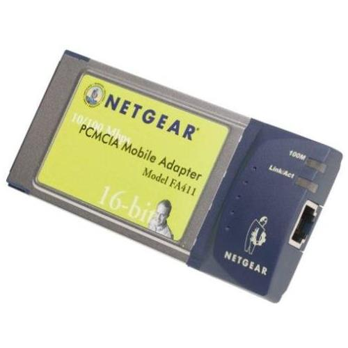 FA411 NetGear 16-Bit 10/100Mbps PCMCIA Network Adapter Card for Notebook
