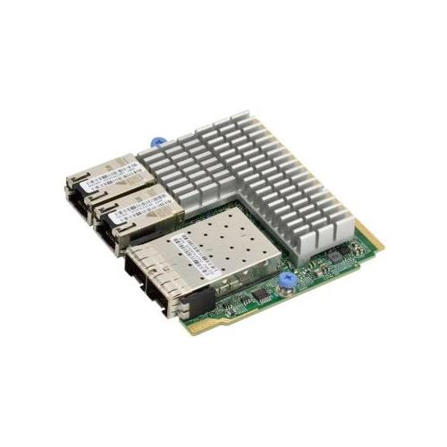 AOC-MH25G-m2S2T SuperMicro (2-Ports 25Gbps SFP28 and 2-Ports RJ-45 10GBase-T) Network Adapter