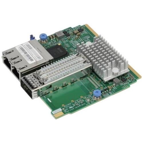 AOC-MHIBF-m1Q2G SuperMicro ConnectX-3 Pro InfiniBand FDR Single-Port QSFP 40Gbps Network Adapter with Dual RJ-45 Connector