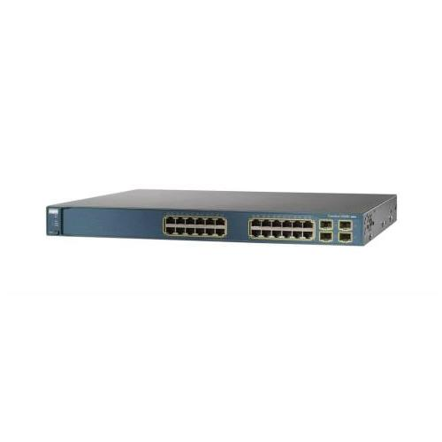 WS-C3560G-24TS-S-WS Cisco Catalyst 3560 24-Ports 10/100/1000 with 4 SFP and Enhanced Multilayer Software Image (Refurbished)