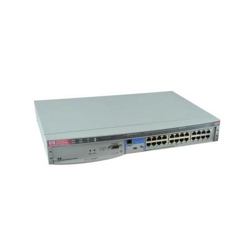 J3177A HP AdvanceStack Switch 224T High Performance LAN Switch With 24 10Base-T Ports 1 100Base-TX Port and 1 Open Transceiver Slot for 100Base-TX or 100Base-FX Quartz Gray (Refurbished)
