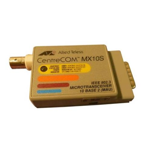 AT-MX10S-05D Allied Telesis Slim-Line CentreCOM MX10S IEEE 802.3 10Base-2 AUI to BNC Micro Transceiver Module