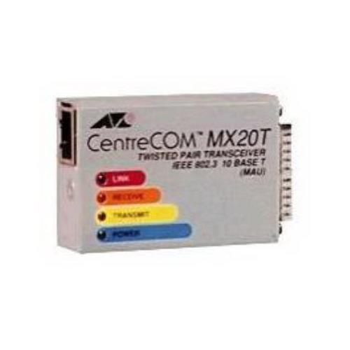 AT-MX20T Allied Telesis CentreCOM MX20T 10Mbps IEEE 802.3 Twisted Pair micro Transceiver with AUI Connector
