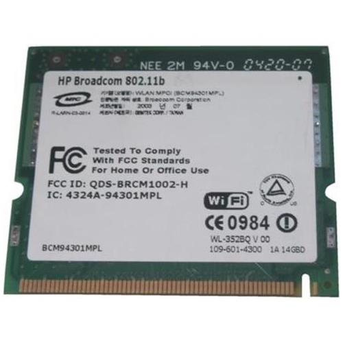 348996R-001 HP Mini PCI IEEE 11MBps 802.11b Wireless LAN (WLAN) Network Interface Card