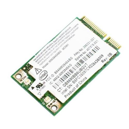 407575-003 HP Broadcom 3945ABG Mini PCI-Express 802.11a/b/g Wireless LAN (WLAN) Network Interface Card for 6910P NC6400 NW9440 NX9420 Notebooks