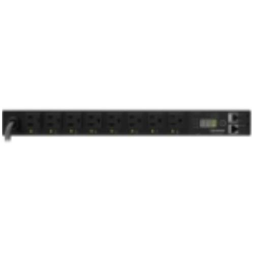 "PDU15SW8FNET CyberPower Switched PDU RM 1U 15A 8-Outlet 8 x NEMA 5-15R Zero U 19"" Rack-mountable, 1U 19"" Rack-mountable"