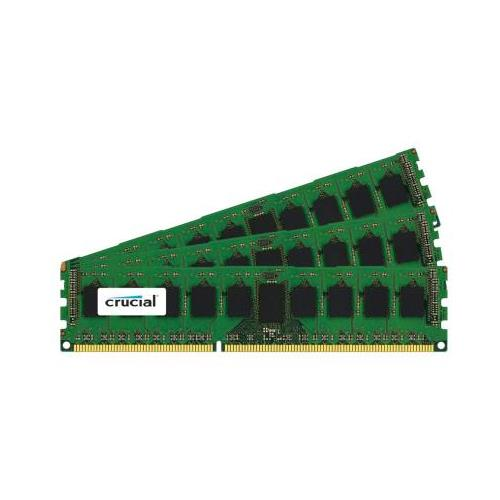 CT1923876 Crucial 6GB Kit (3 X 2GB) PC3-10600 DDR3-1333MHz ECC Registered CL9 240-Pin DIMM 1.35V Low Voltage Dual Rank Memory for HP ProLiant DL585 G7 Server