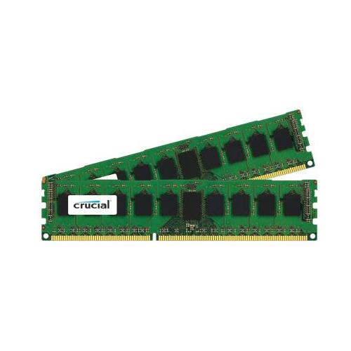 CT3359095 Crucial 4GB Kit (2 X 2GB) PC3-12800 DDR3-1600MHz ECC Registered CL11 240-Pin DIMM 1.35V Low Voltage Very Low Profile (VLP) Single Rank Memory for HP-Compaq ProLiant ML350e Gen8 Server