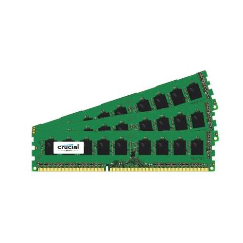 CT3418172 Crucial 24GB Kit (3 X 8GB) PC3-10600 DDR3-1333MHz ECC Unbuffered CL9 240-Pin DIMM 1.35V Low Voltage Memory for Supermicro SuperWorkstation 7037A-iL Workstation