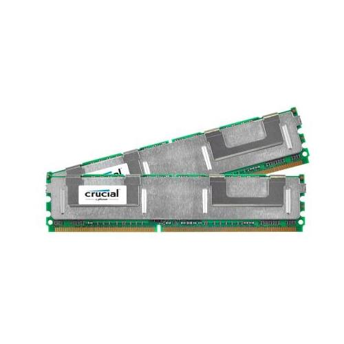 CT579302 Crucial 1GB Kit (2 X 512MB) PC2-5300 DDR2-667MHz ECC Fully Buffered CL5 240-Pin DIMM Memory for Apple Xserve FBDIMM Late 2006 Server
