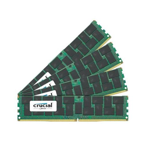 CT6227159 Crucial 128GB Kit (4 X 32GB) PC4-17000 DDR4-2133MHz ECC Registered CL15 288-Pin Load Reduced DIMM 1.2V Quad Rank Server Memory for Supermicro X10DRFF