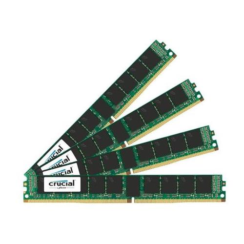 CT6227214 Crucial 64GB Kit (4 X 16GB) PC4-17000 DDR4-2133MHz ECC Registered CL15 288-Pin DIMM 1.2V Very Low Profile (VLP) Dual Rank Server Memory for Supermicro X10DRW-i