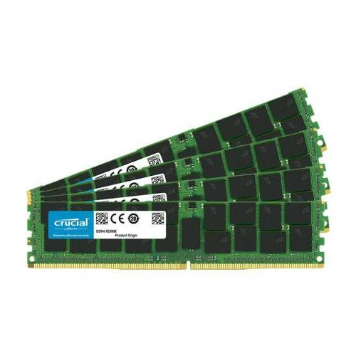 CT6227338 Crucial 64GB Kit (4 X 16GB) PC4-17000 DDR4-2133MHz ECC Registered CL15 288-Pin DIMM 1.2V Dual Rank Server Memory for Supermicro X10DDW-iN