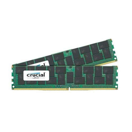 CT6227357 Crucial 64GB Kit (2 X 32GB) PC4-17000 DDR4-2133MHz ECC Registered CL15 288-Pin Load Reduced DIMM 1.2V Quad Rank Server Memory for Supermicro X10DDW-iN