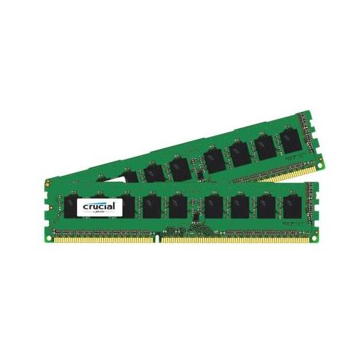 CT6602723 Crucial 8GB Kit (2 X 4GB) PC3-12800 DDR3-1600MHz ECC Unbuffered CL11 240-Pin DIMM Single Rank Memory for HP ProLiant DL160 G6 (625544-B21)