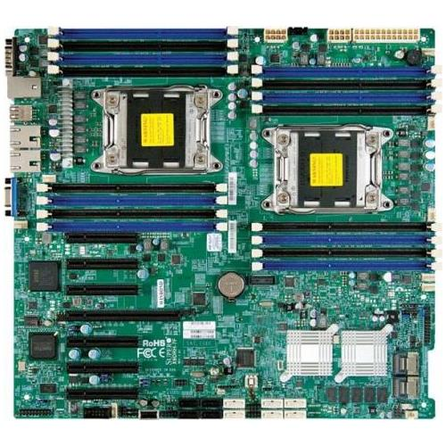 MBD-X9DRH-IF-O SuperMicro X9DRH-iF Intel Xeon E5-2600 and E5-2600 V2 Series Processors C602 Chipset Socket LGA2011 Extended-ATX Motherboard (Refurbished)