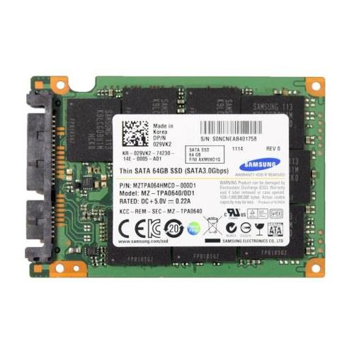 029VK2 Dell 64GB MLC SATA 3Gbps 1.8-inch Internal Solid State Drive (SSD)