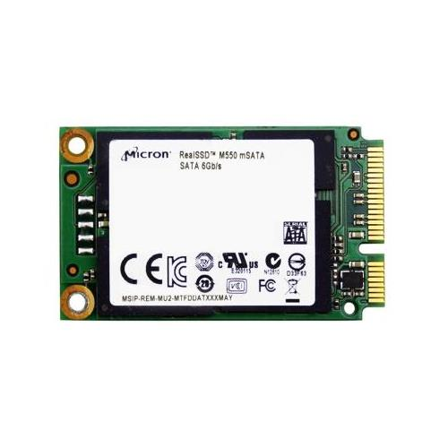 MTFDDAT128MAY1AH12ABYY Micron M550 128GB MLC SATA 6Gbps (SED) mSATA Internal Solid State Drive (SSD)
