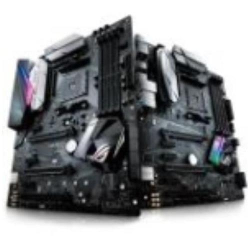 90MB0UJ0-M0AAY0 ROG STRIX B350-F GAMING Desktop Motherboard AMD Chipset Socket AM4 ATX 1 x Processor Support 64GB DDR4 SDRAM Maximum RAM 2.93 GHz O.C., 2.67 GHz, 2.40 GHz, 3.20 GHz O.C., 2.13 GHz Memory Speed Supported UDIMM, DIMM 4 x Memory Slots Serial ATA/600 RAID Supported Controller 10, 1, 0 RAID Levels CPU Dependent Video 4 x USB 3.0 Port HDMI 7.1 Audio Channels Gigabit Ethernet 3 x PCI Express x1 Slots 3 x PCI Express x16 Slots 8 x USB Ports S/PDIF DisplayPor