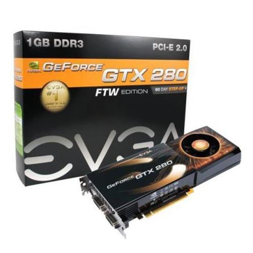 01G-P3-1286-R1 EVGA nVidia GeForce GTX 280 FTW Edition 1GB 512-bit GDDR3 PCI Express 2.0 Video Graphics Card