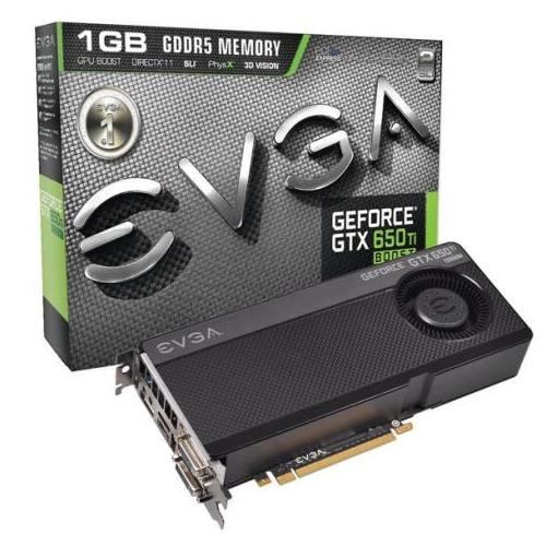 01G-P4-3656-KR EVGA GeForce GTX 650 Ti BOOST Superclocked 1GB 192-Bit GDDR5 PCI Express 3.0 x16 Dual DVI/ HDMI/ DisplayPort Video Graphics Card