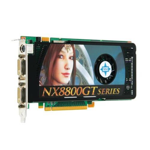 NX8800GT-T2D512E MSI GeForce 8800GT Graphics Card