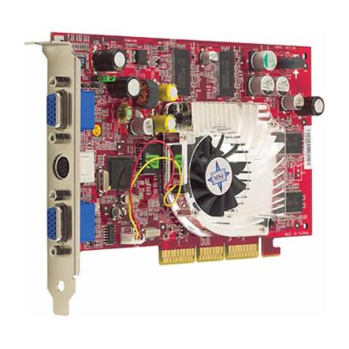 TI4200-VTP MSI 128MB Agp Video Graphics Card With Dual Vga Ports and S-video